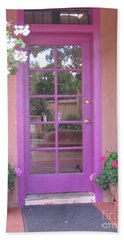 Hand Towel featuring the photograph Purple Door by Dora Sofia Caputo Photographic Art and Design