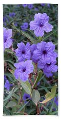 Hand Towel featuring the photograph Purple Flowers by Laurel Powell