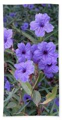Purple Flowers Hand Towel by Laurel Powell