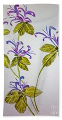 Purple Flowers Hand Towel