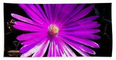 Purple Glow Bath Towel by Pamela Walton