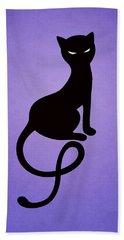 Purple Gracious Evil Black Cat Hand Towel