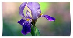 Purple Iris Bath Towel
