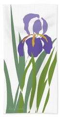 Purple Iris Stylized Hand Towel