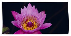 Purple Lotus Flower Bath Towel