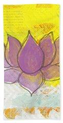 Purple Lotus Hand Towel