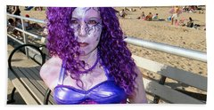 Hand Towel featuring the photograph Purple Mermaid by Ed Weidman