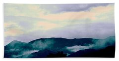 Purple Mountains Majesty Blue Ridge Mountains Hand Towel by Kathy Barney