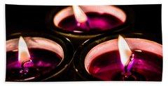 Bath Towel featuring the photograph Purple Night by Sotiris Filippou