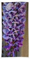 Purple Orchid Like Flower Bath Towel