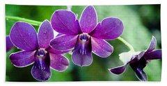 Purple Orchids Hand Towel