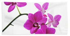 Hand Towel featuring the digital art purple orchids II by Jane Schnetlage