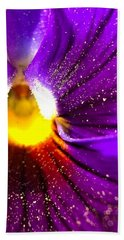 Purple Pansy Detail Hand Towel
