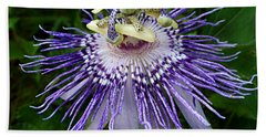 Purple Passionflower Bath Towel