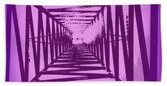 Purple Perspective Hand Towel by Clare Bevan