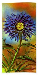 Purple Petals Hand Towel