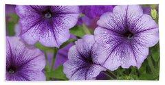 Purple Petunias Hand Towel