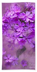 Purple Phlox Hand Towel by Lena Auxier