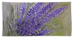 Purple Lavender Summer Hand Towel