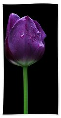 Purple Tulip Bath Towel
