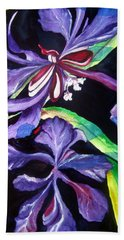 Purple Wildflowers Bath Towel