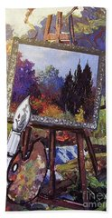 Bath Towel featuring the painting Put Color In Your Life by Eloise Schneider