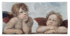 Putti Detail From The Sistine Madonna Hand Towel