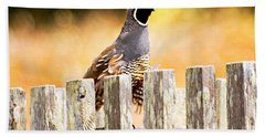 Quail Lookout Bath Towel