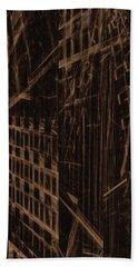Bath Towel featuring the digital art Quake - Ground Zero by GJ Blackman