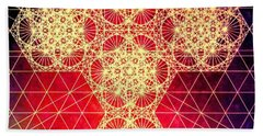 Quantum Cross Hand Drawn Hand Towel