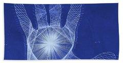 Quantum Hand Through My Eyes Bath Towel