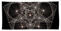 Bath Towel featuring the drawing Quantum Star II by Jason Padgett