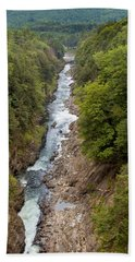 Quechee Gorge State Park Bath Towel by John M Bailey