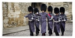 Queens Guard Hand Towel by Heather Applegate