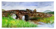 Quiet Man Bridge Ireland Hand Towel by John D Benson