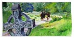 Quiet Man Watercolor 2 Hand Towel by John D Benson