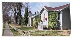 Quiet Street Waiting For Spring Hand Towel by Donald S Hall