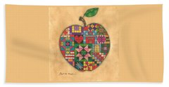 Quilted Apple Hand Towel