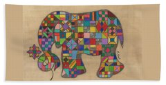 Quilted Elephant Hand Towel