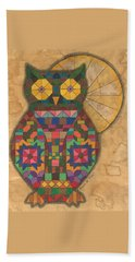 Quilted Owl Hand Towel