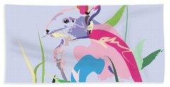 Rabbit - Bunny In Color Hand Towel