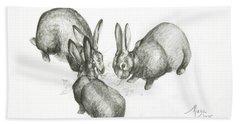 Rabbits Bath Towel