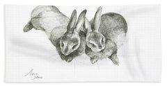 Rabbits Sleeping Bath Towel