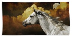 Hand Towel featuring the photograph Racing The Moon by Karen Slagle