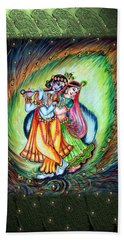 Radha Krishna Bath Towel by Harsh Malik