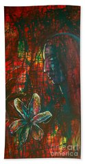 Hand Towel featuring the painting Radiating Light by Mini Arora