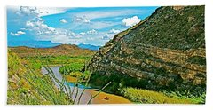 Rafting In Santa Elena Canyon In Big Bend National Park-texas Bath Towel