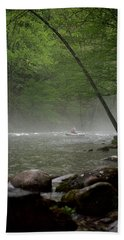 Rafting Misty River Bath Towel