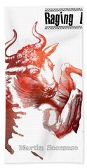 Raging Bull Martin Scorsese Film Poster Bath Towel