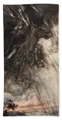 Raging, Wotan Rides To The Rock! Like Hand Towel